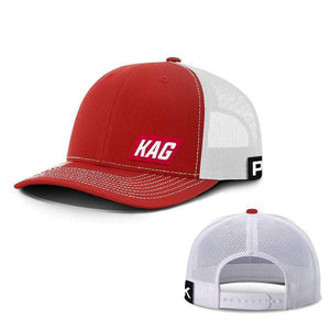 Printed Kicks Snapback Hat Red And White / Snapback Hat / OSFA Keep America Great Back Mesh Hat (10 Variants)
