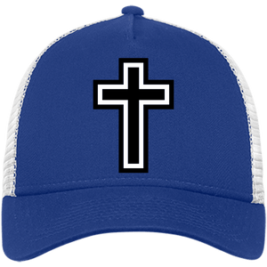 CustomCat Snapback Hat Royal/White / One Size The Cross NE205 Snapback Trucker Cap (6 Variants)