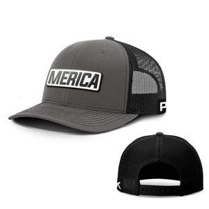 Printed Kicks Snapback Hat Snapback Hat / Charcoal And Black / OSFA Merica White Leather Patch Snapback Hat (15 Variants)