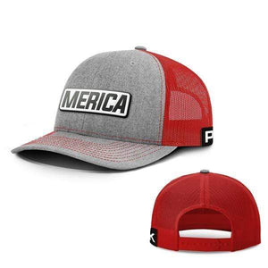 Printed Kicks Snapback Hat Snapback Hat / Heather And Red / OSFA Merica White Leather Patch Snapback Hat (15 Variants)