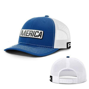 Printed Kicks Snapback Hat Snapback Hat / Royal Blue And White / OSFA Merica White Leather Patch Snapback Hat (15 Variants)