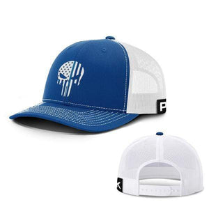 Printed Kicks Snapback Hat Thin Blue Line (TBL) Punisher Snapback Hat (14 Variants)