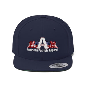 Printify Snapback Hat True Navy / One size Merica American Patriots Apparel Logo With White Text Hat (6 Variants)