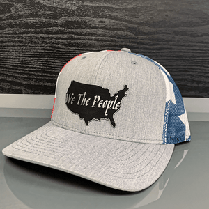 Print Brains Snapback Hat We The People USA Leather Patch Hat (6 Variants)