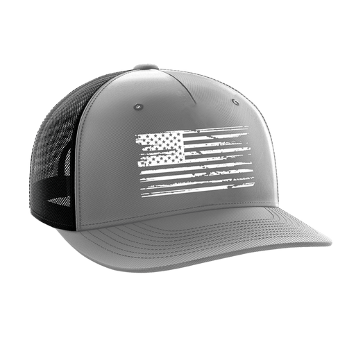 Tactical Pro Supply Snapback Hat White Flag Gray / Black / OSFA American Flag Tactical Snapback Hat (6 Variants)