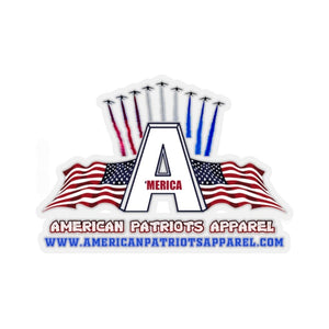 "Printify Sticker 2"" × 2"" / White American Patriots Apparel Sticker (4 Sizes)"
