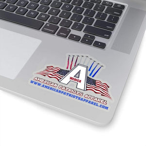 "Printify Sticker 4"" × 4"" / Transparent American Patriots Apparel Sticker (4 Sizes)"