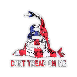 "Printify Sticker 4"" × 4"" / Transparent Don't Tread On Me American Gadsden Snake Sticker (4 Sizes)"