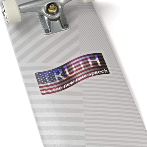 Printify Sticker Truth It's The New Hate Speech American Flag Sticker (4 Sizes)