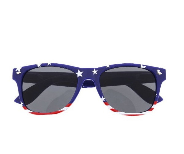 American AsFack (AF) Sunglasses Red/White/Blue / One Size Patriotic Flag Sunglasses