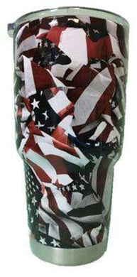 American Patriots Apparel Tumbler 30 oz. American Flag 30 oz. Stainless Steel Tumbler