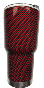 American Patriots Apparel Tumbler 30 oz. Red Carbon Fiber 30 oz. Stainless Steel Tumbler