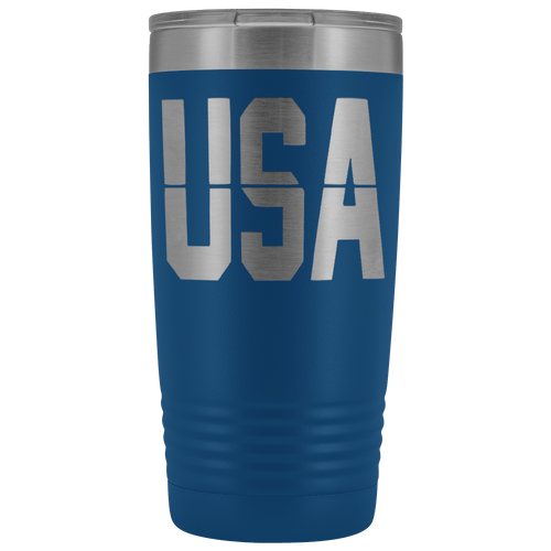 teelaunch Tumbler Blue / 20 oz 20 oz. USA Tumbler (12 Variants)