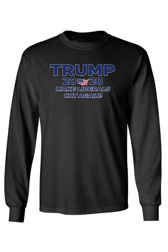 American Patriots Apparel Unisex Trump 2020 Make Liberals Cry Again Long Sleeve Shirt