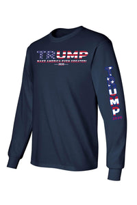 American Patriots Apparel Unisex Trump USA Make America Even Greater Long Sleeve Shirt