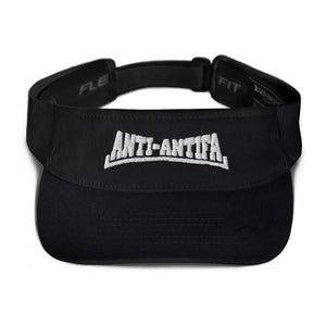 American Patriots Apparel Visor Black / OSFA Anti-Antifa White Text Flexfit Visor (5 Variants)
