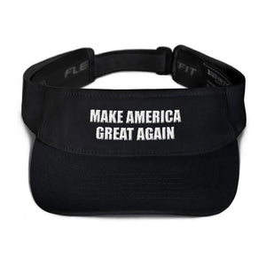 American Patriots Apparel Visor Black / OSFA MAKE AMERICA GREAT AGAIN 3D Puff Text Flexfit Visor (5 Variants)