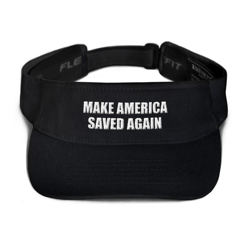 American Patriots Apparel Visor Black / OSFA MAKE AMERICA SAVED AGAIN 3D Puff Text Flexfit Visor (5 Variants)