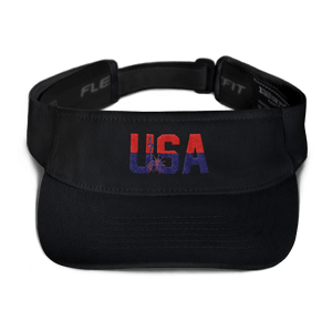 American Patriots Apparel Visor Black / OSFA Red & Navy Blue USA Statue of Liberty Visor (5 Variants)