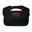 Load image into Gallery viewer, American Patriots Apparel Visor Black / OSFA Red & Navy Blue USA Visor (5 Variants)
