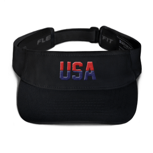 American Patriots Apparel Visor Black / OSFA Red & Navy Blue USA Visor (5 Variants)