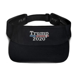 American Patriots Apparel Visor Black / OSFA Trump 2020 White Text Flexfit Visor (5 Variants)