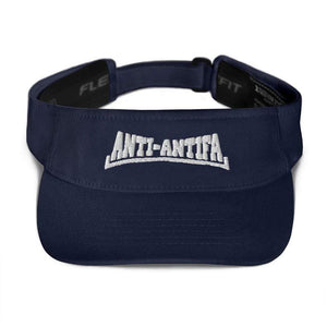 American Patriots Apparel Visor Navy / OSFA Anti-Antifa White Text Flexfit Visor (5 Variants)