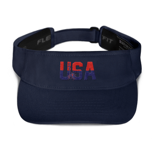 American Patriots Apparel Visor Navy / OSFA Red & Navy Blue USA Statue of Liberty Visor (5 Variants)