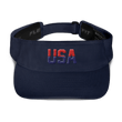 Load image into Gallery viewer, American Patriots Apparel Visor Navy / OSFA Red & Navy Blue USA Visor (5 Variants)