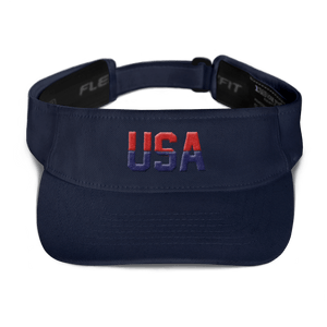 American Patriots Apparel Visor Navy / OSFA Red & Navy Blue USA Visor (5 Variants)