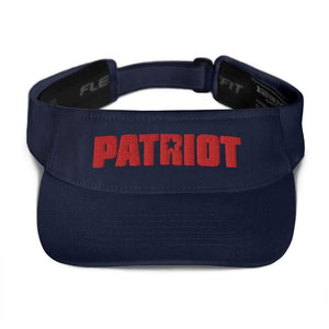 American Patriots Apparel Visor Navy / OSFA Red Patriot Transparent Star Flexfit Visor (5 Variants)