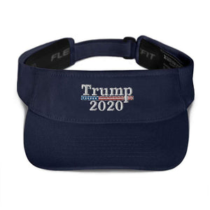 American Patriots Apparel Visor Navy / OSFA Trump 2020 White Text Flexfit Visor (5 Variants)
