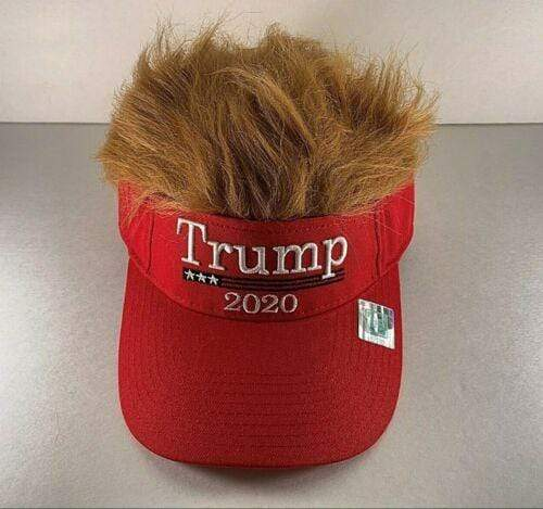 Amazon Visor Red / OSFA Donald Trump 2020 Wig Visor MAGA Hat 2020 Keep America Great