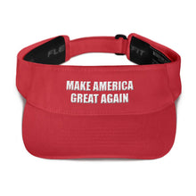 Load image into Gallery viewer, American Patriots Apparel Visor Red / OSFA MAKE AMERICA GREAT AGAIN 3D Puff Text Flexfit Visor (5 Variants)