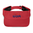 Load image into Gallery viewer, American Patriots Apparel Visor Red / OSFA Red & Navy Blue USA Statue of Liberty Visor (5 Variants)