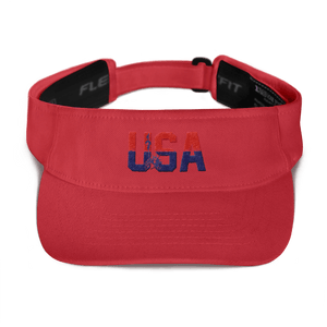 American Patriots Apparel Visor Red / OSFA Red & Navy Blue USA Statue of Liberty Visor (5 Variants)
