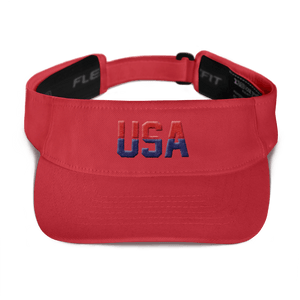 American Patriots Apparel Visor Red / OSFA Red & Navy Blue USA Visor (5 Variants)