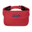 Load image into Gallery viewer, American Patriots Apparel Visor Red / OSFA Red & Royal Blue USA Visor (5 Variants)