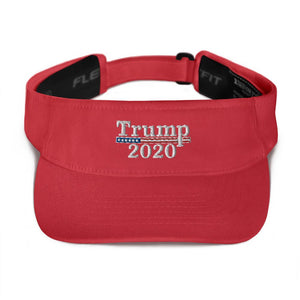 American Patriots Apparel Visor Red / OSFA Trump 2020 White Text Flexfit Visor (5 Variants)