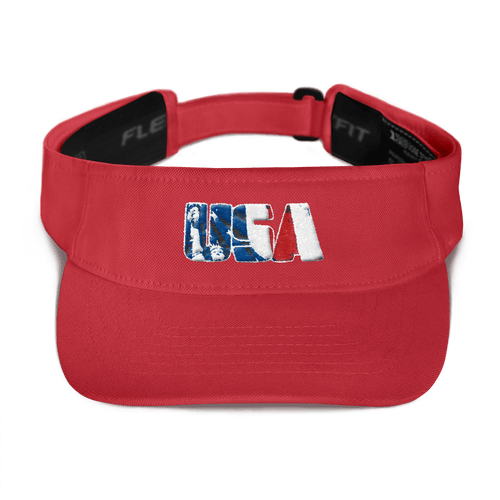 American Patriots Apparel Visor Red USA Red White & Blue Statue of Liberty American Light Beam 3D Patriotic Visor (5 Variants)