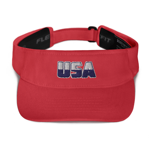 American Patriots Apparel Visor Red White & Navy Blue USA Logo American Visor (5 Variants)