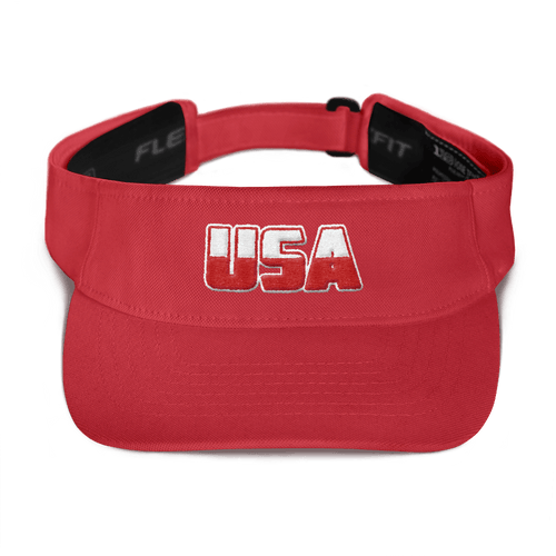 American Patriots Apparel Visor Red White & Red 3D USA Logo American Visor (5 Variants)