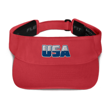 Load image into Gallery viewer, American Patriots Apparel Visor Red White & Royal Blue USA Logo American Visor (5 Variants)