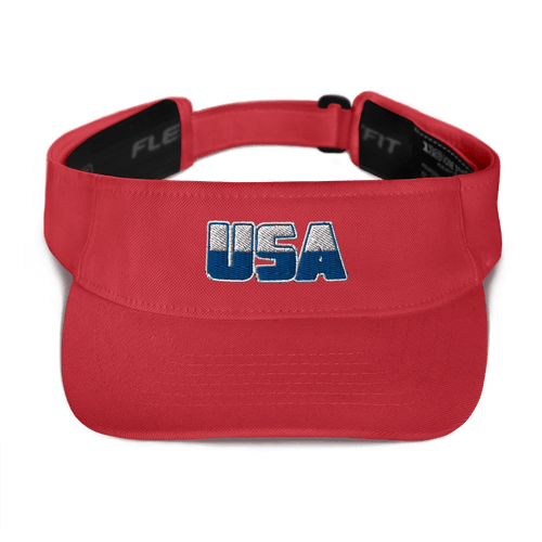 American Patriots Apparel Visor Red White & Royal Blue USA Logo American Visor (5 Variants)