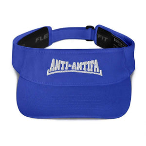 American Patriots Apparel Visor Royal / OSFA Anti-Antifa White Text Flexfit Visor (5 Variants)