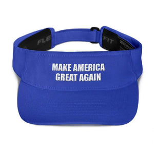 American Patriots Apparel Visor Royal / OSFA MAKE AMERICA GREAT AGAIN 3D Puff Text Flexfit Visor (5 Variants)