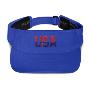 American Patriots Apparel Visor Royal / OSFA Red & Navy Blue USA Statue of Liberty Visor (5 Variants)