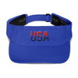 Load image into Gallery viewer, American Patriots Apparel Visor Royal / OSFA Red & Navy Blue USA Visor (5 Variants)