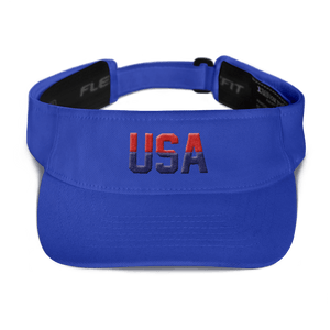 American Patriots Apparel Visor Royal / OSFA Red & Navy Blue USA Visor (5 Variants)