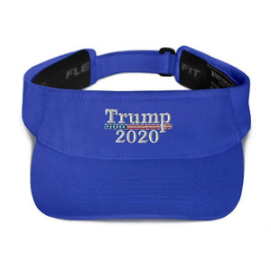American Patriots Apparel Visor Royal / OSFA Trump 2020 White Text Flexfit Visor (5 Variants)